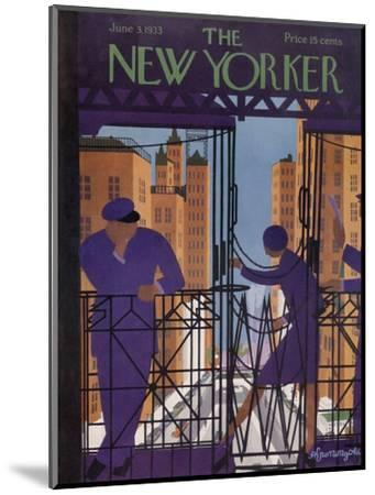 The New Yorker Cover - June 3, 1933-Adolph K. Kronengold-Mounted Premium Giclee Print