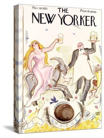 The New Yorker Cover - March 30, 1935-Garrett Price-Stretched Canvas Print