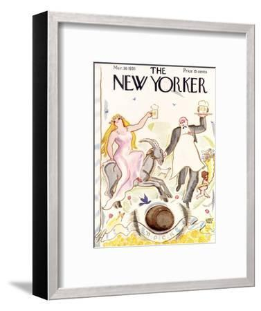 The New Yorker Cover - March 30, 1935-Garrett Price-Framed Premium Giclee Print
