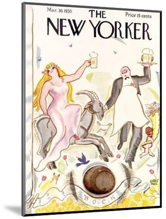 The New Yorker Cover - March 30, 1935-Garrett Price-Mounted Premium Giclee Print