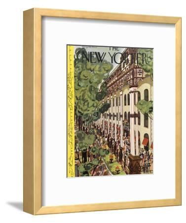 The New Yorker Cover - August 10, 1935-Arnold Hall-Framed Premium Giclee Print