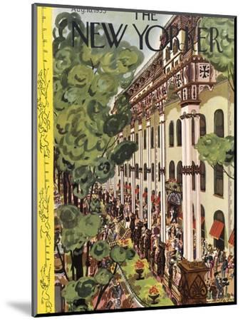 The New Yorker Cover - August 10, 1935-Arnold Hall-Mounted Premium Giclee Print