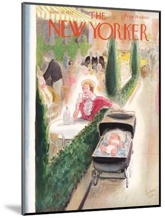 The New Yorker Cover - June 26, 1937-Richard Decker-Mounted Premium Giclee Print