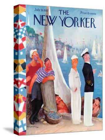 The New Yorker Cover - July 31, 1937-William Cotton-Stretched Canvas Print