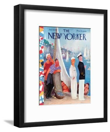 The New Yorker Cover - July 31, 1937-William Cotton-Framed Premium Giclee Print