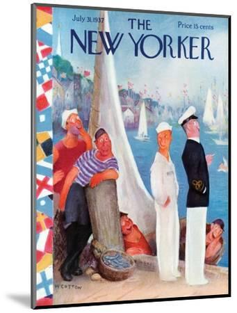 The New Yorker Cover - July 31, 1937-William Cotton-Mounted Premium Giclee Print