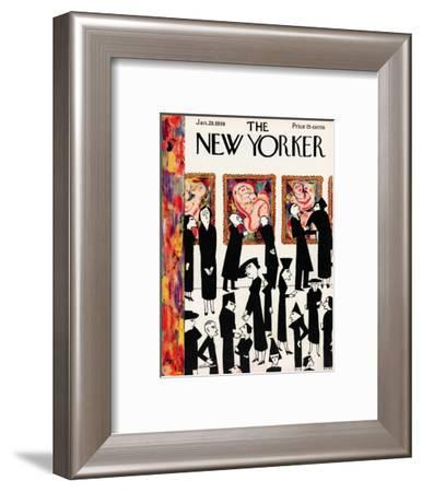 The New Yorker Cover - January 29, 1938-Christina Malman-Framed Premium Giclee Print