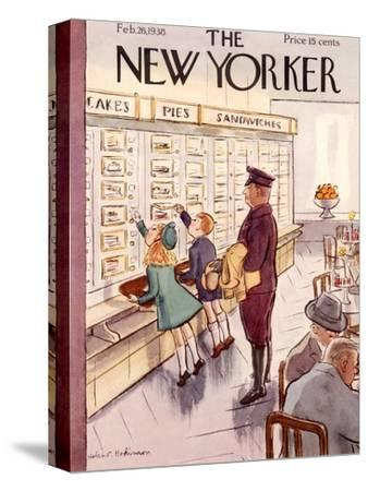 The New Yorker Cover - February 26, 1938-Helen E. Hokinson-Stretched Canvas Print