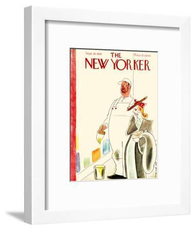 The New Yorker Cover - September 24, 1938-Rea Irvin-Framed Premium Giclee Print