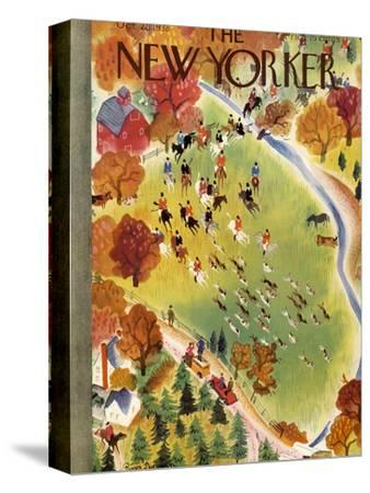 The New Yorker Cover - October 22, 1938-Roger Duvoisin-Stretched Canvas Print