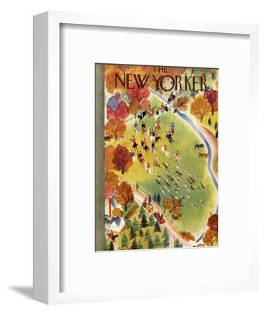 The New Yorker Cover - October 22, 1938-Roger Duvoisin-Framed Premium Giclee Print