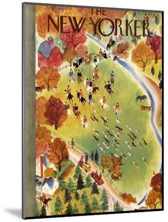 The New Yorker Cover - October 22, 1938-Roger Duvoisin-Mounted Premium Giclee Print