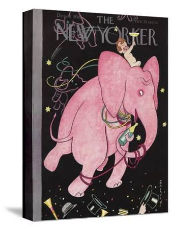The New Yorker Cover - December 31, 1938-Rea Irvin-Stretched Canvas Print