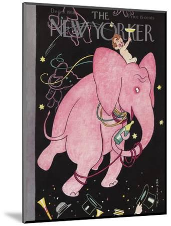 The New Yorker Cover - December 31, 1938-Rea Irvin-Mounted Premium Giclee Print