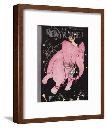 The New Yorker Cover - December 31, 1938-Rea Irvin-Framed Premium Giclee Print