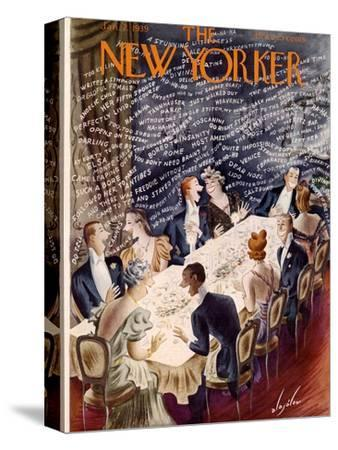 The New Yorker Cover - January 7, 1939-Constantin Alajalov-Stretched Canvas Print