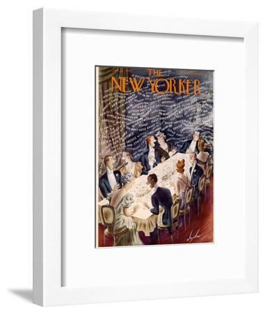 The New Yorker Cover - January 7, 1939-Constantin Alajalov-Framed Premium Giclee Print