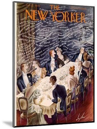 The New Yorker Cover - January 7, 1939-Constantin Alajalov-Mounted Premium Giclee Print