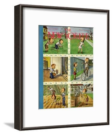 The New Yorker Cover - April 25, 1942-William Steig-Framed Premium Giclee Print