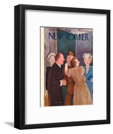 The New Yorker Cover - April 15, 1944-William Cotton-Framed Premium Giclee Print