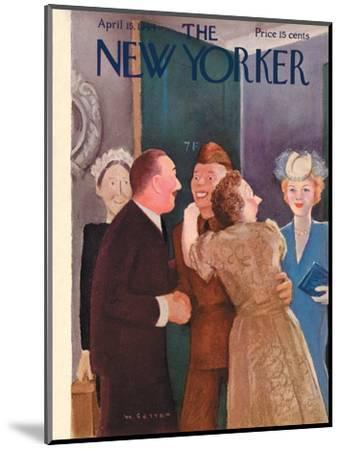 The New Yorker Cover - April 15, 1944-William Cotton-Mounted Premium Giclee Print