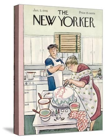 The New Yorker Cover - January 5, 1946-Helen E. Hokinson-Stretched Canvas Print