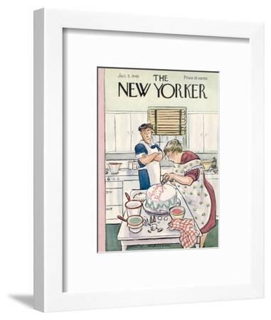 The New Yorker Cover - January 5, 1946-Helen E. Hokinson-Framed Premium Giclee Print