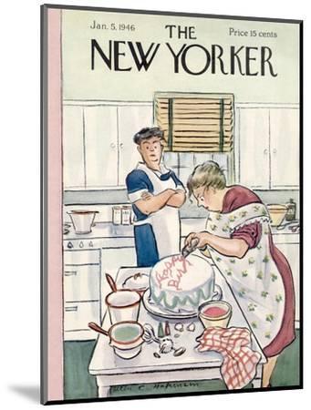 The New Yorker Cover - January 5, 1946-Helen E. Hokinson-Mounted Premium Giclee Print