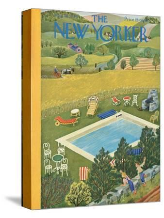 The New Yorker Cover - August 10, 1946-Ilonka Karasz-Stretched Canvas Print