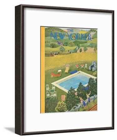 The New Yorker Cover - August 10, 1946-Ilonka Karasz-Framed Premium Giclee Print