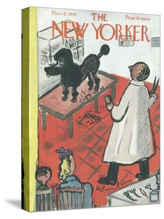 The New Yorker Cover - November 9, 1946-Abe Birnbaum-Stretched Canvas Print
