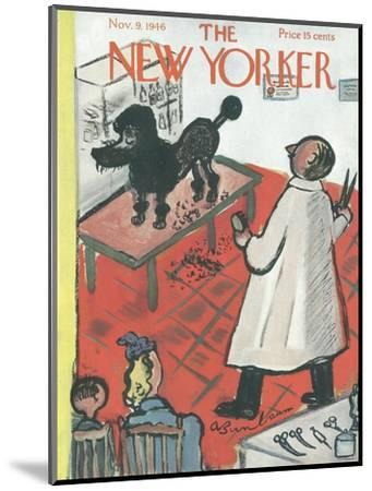The New Yorker Cover - November 9, 1946-Abe Birnbaum-Mounted Premium Giclee Print
