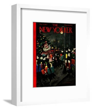 The New Yorker Cover - December 13, 1947-Christina Malman-Framed Premium Giclee Print