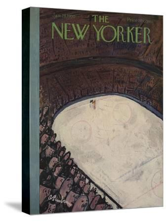 The New Yorker Cover - January 28, 1950-Abe Birnbaum-Stretched Canvas Print