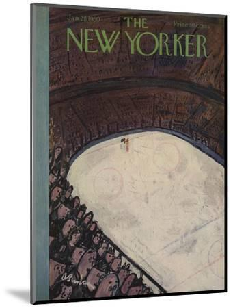 The New Yorker Cover - January 28, 1950-Abe Birnbaum-Mounted Premium Giclee Print