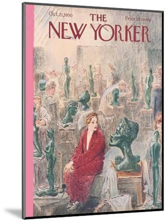 The New Yorker Cover - October 21, 1950-Garrett Price-Mounted Premium Giclee Print