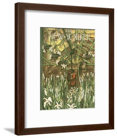The New Yorker Cover - March 24, 1951-Ludwig Bemelmans-Framed Premium Giclee Print