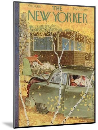 The New Yorker Cover - October 6, 1951-Garrett Price-Mounted Premium Giclee Print