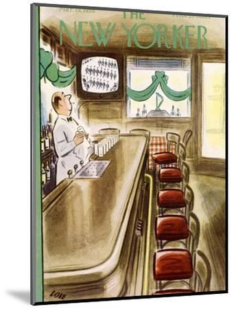 The New Yorker Cover - March 19, 1955-Leonard Dove-Mounted Premium Giclee Print