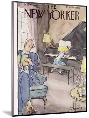 The New Yorker Cover - November 12, 1955-Perry Barlow-Mounted Premium Giclee Print