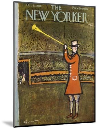 The New Yorker Cover - October 27, 1956-Abe Birnbaum-Mounted Premium Giclee Print