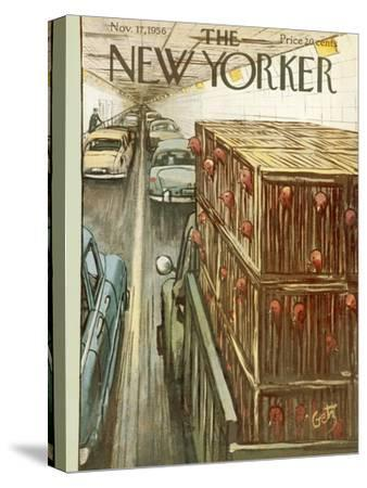 The New Yorker Cover - November 17, 1956-Arthur Getz-Stretched Canvas Print
