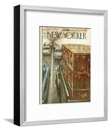 The New Yorker Cover - November 17, 1956-Arthur Getz-Framed Premium Giclee Print