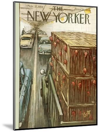The New Yorker Cover - November 17, 1956-Arthur Getz-Mounted Premium Giclee Print