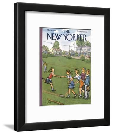 The New Yorker Cover - May 10, 1958-Perry Barlow-Framed Premium Giclee Print