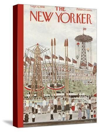 The New Yorker Cover - September 6, 1958-Vestie E. Davis-Stretched Canvas Print