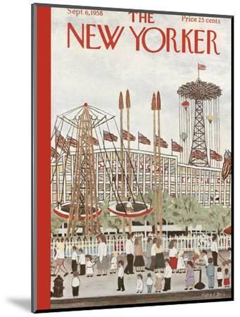 The New Yorker Cover - September 6, 1958-Vestie E. Davis-Mounted Premium Giclee Print