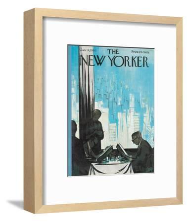 The New Yorker Cover - January 16, 1960-Arthur Getz-Framed Premium Giclee Print