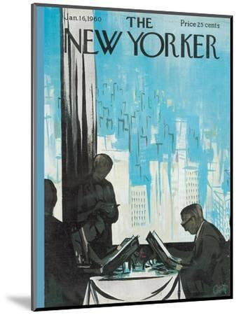 The New Yorker Cover - January 16, 1960-Arthur Getz-Mounted Premium Giclee Print