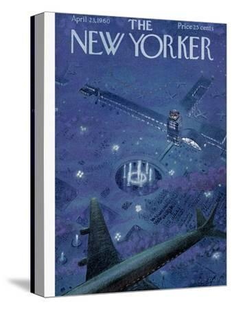 The New Yorker Cover - April 23, 1960-Garrett Price-Stretched Canvas Print